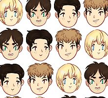 AOT / SNK Chibi Heads by cambrasine