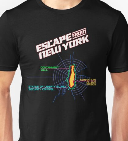 ESCAPE FROM NEW YORK - ISLAND MAP (1) Unisex T-Shirt