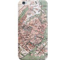 Vintage Map of Copenhagen Denmark (1888) iPhone Case/Skin