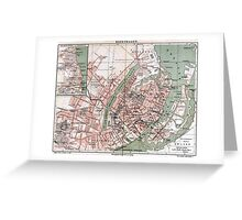 Vintage Map of Copenhagen Denmark (1888) Greeting Card
