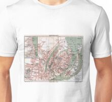 Vintage Map of Copenhagen Denmark (1888) Unisex T-Shirt
