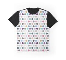 The pattern consists of multi-colored circles Graphic T-Shirt