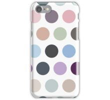 The pattern consists of multi-colored circles iPhone Case/Skin