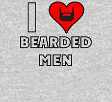 I Love Bearded Men Womens Fitted T-Shirt