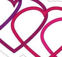 Interlocking Purple Hearts Sticker