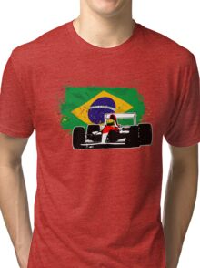 Formula 1 Racing - Brazil Flag Tri-blend T-Shirt