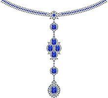 Sapphire Enchantment Necklace by eldonshorey