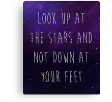 Look Up At The Stars Motivational Quote Canvas Print