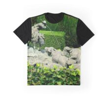 Herdsman sculpture, La Foce, Tuscany, Italy Graphic T-Shirt