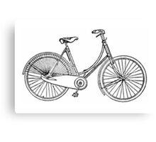 Vintage American Bicycle Diagram Canvas Print