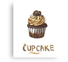 Cupcake for breakfast Canvas Print