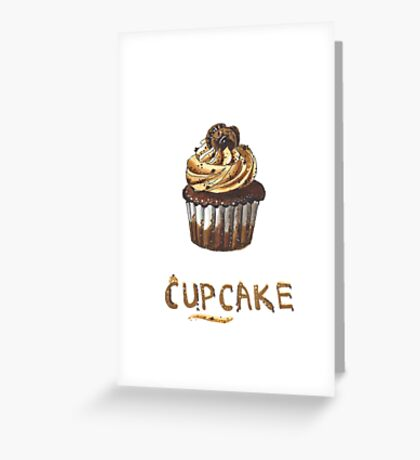 Cupcake for breakfast Greeting Card