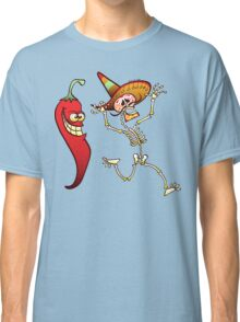 Hot Chili Pepper Nightmare for a Mexican Skeleton Classic T-Shirt