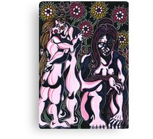 flowers and nudes Canvas Print
