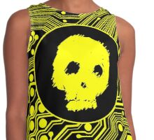 Yellow Blurry Skull (Cybergoth) Contrast Tank