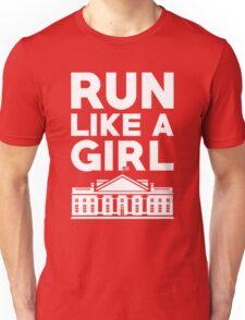 Run Like A Girl - Hillary Clinton Unisex T-Shirt