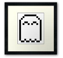 8-bit Pixel Ghost <3 Framed Print