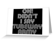 Tubeway Army Gary Numan 'Oh! Didn't I Say' Design Greeting Card