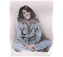 Karen Carpenter Tinted Graphite Drawing Poster