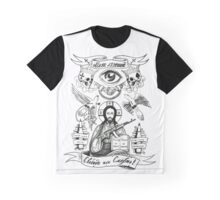 Christ mafija Tattoo Graphic T-Shirt