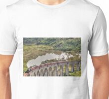 The Jacobite Steam Train, Glenfinnan Viaduct, Scotland. Unisex T-Shirt
