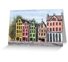 Amsterdam Street Scene - Watercolor Pen and Wash Greeting Card