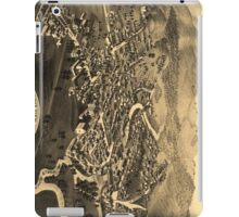 Vintage Pictorial Map of Lancaster NH (1883) iPad Case/Skin