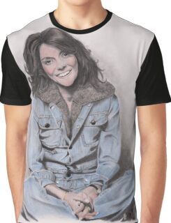 Karen Carpenter Tinted Graphite Drawing Graphic T-Shirt