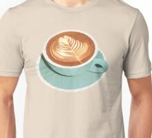 Coffee with Latte Art Polygon Art Unisex T-Shirt