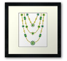 Emeralds in Chains Framed Print