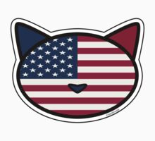 Meow American Flag One Piece - Short Sleeve