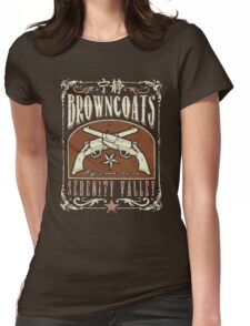 Firefly Browncoats Serenity Valley Womens Fitted T-Shirt