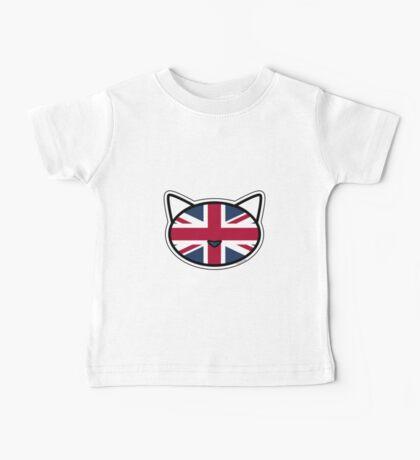 Meow Union Jack Baby Tee