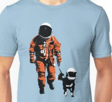 Astronaut walking his dog Unisex T-Shirt