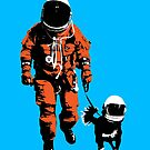 Astronaut walking his dog by monsterplanet