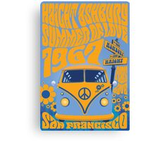 Haight Ashbury Summer Of Love Canvas Print