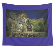 Blue church Wall Tapestry