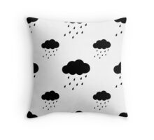 Rain Cloud Pattern Throw Pillow