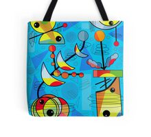 Happy day - blue Tote Bag