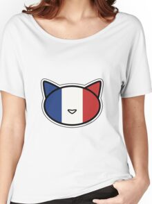 Meow French flag Women's Relaxed Fit T-Shirt