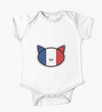 Meow French flag One Piece - Short Sleeve