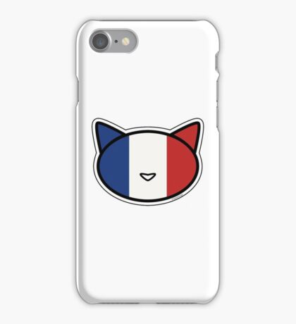 Meow French flag iPhone Case/Skin