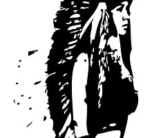 Chief Headress Native Pinup by Maestro Hazer