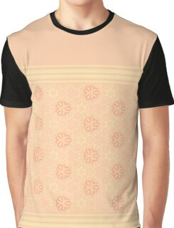 Seamless wall-paper with a gentle  pattern, peach Graphic T-Shirt