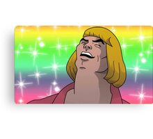 HE MAN - HEYAYEAYE HIGH RESOLUTION AND DETAIL, VIRAL MEME, MEME, DANK MEME, AND I SAID WHAT'S GOING ON Canvas Print