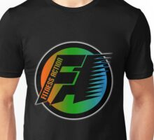 FitnessAction Round Design BK by Mommotti Unisex T-Shirt