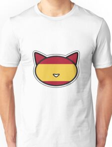 Meow Spanish flag Unisex T-Shirt