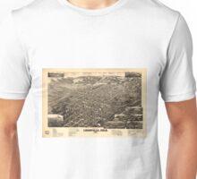 Vintage Pictorial Map of Leadville CO (1882) Unisex T-Shirt