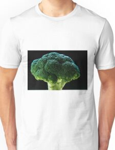 Brocolli on a wooden table Unisex T-Shirt