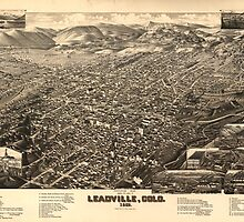 Vintage Pictorial Map of Leadville CO (1882) by BravuraMedia
